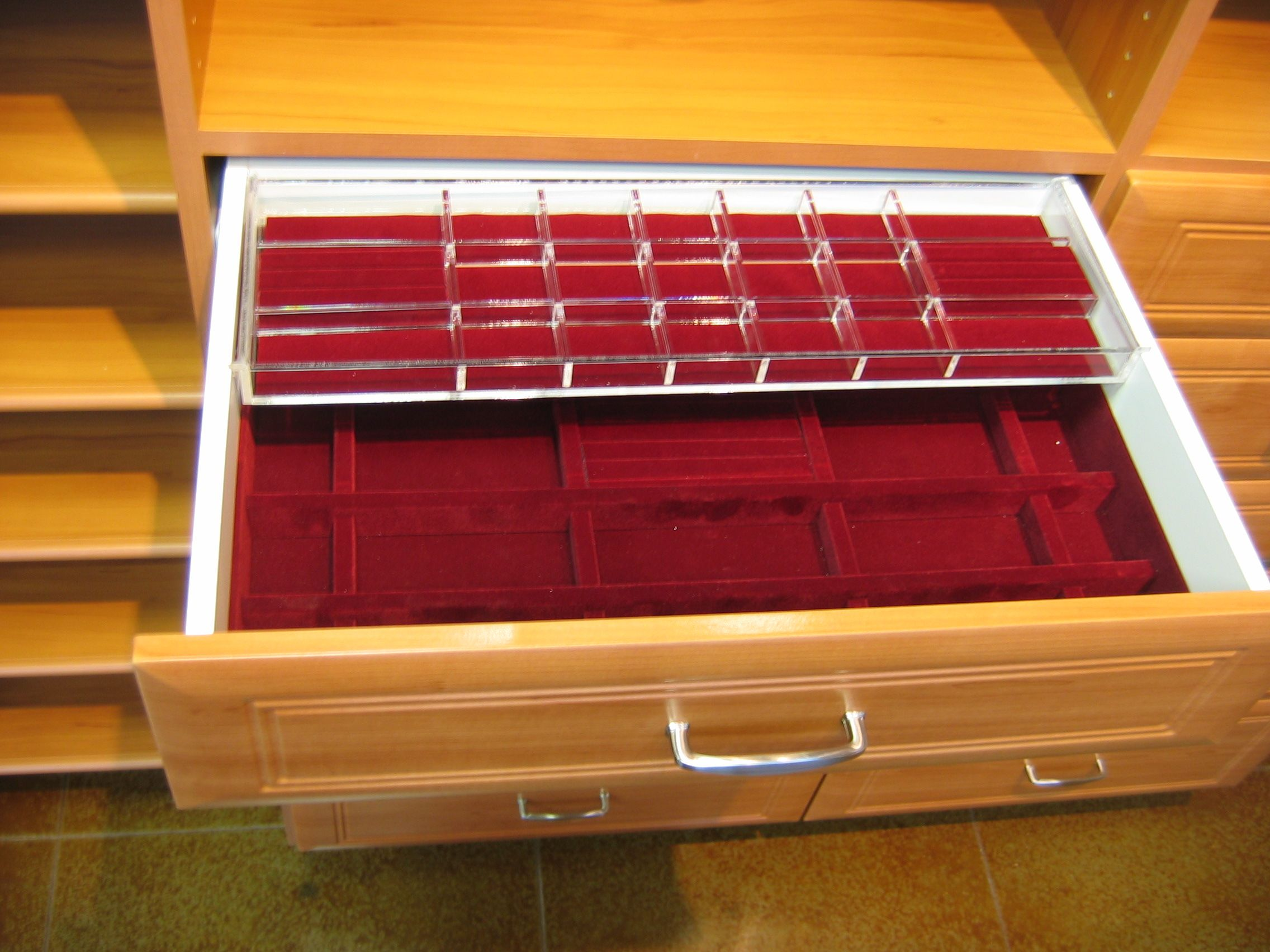 Picture of: Classy Jewelry Drawer Organizer Trays