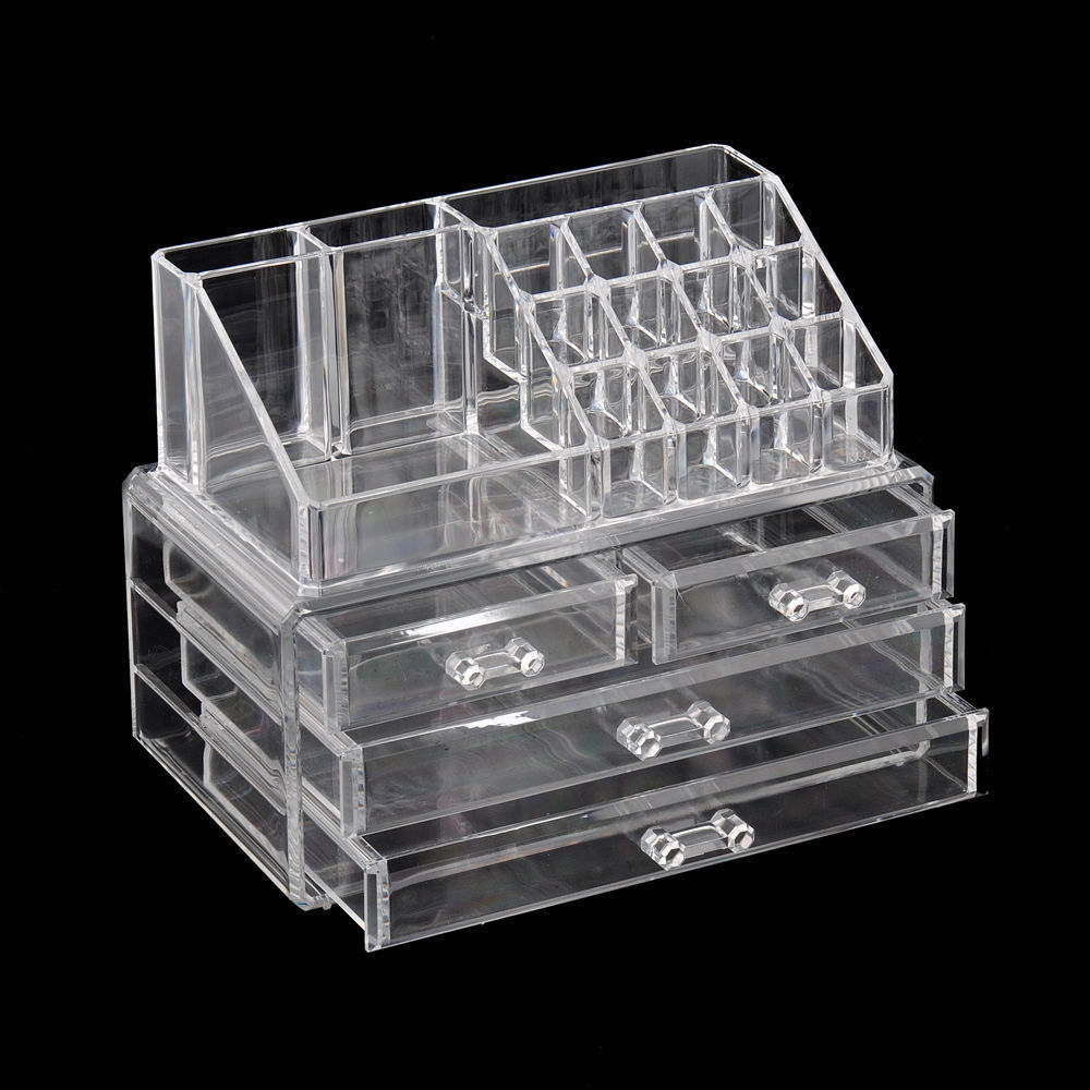 Picture of: Clear Drawer Organizer Set