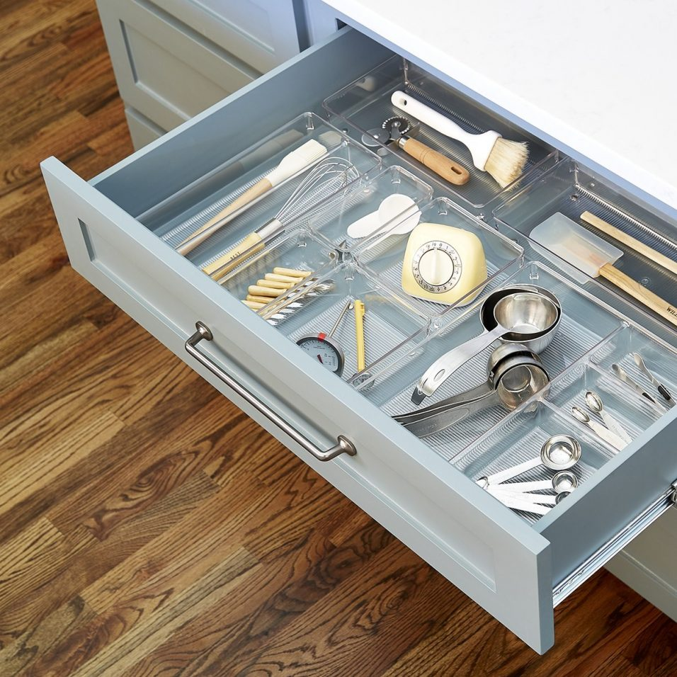 Picture of: Clear Shallow Drawer Organizer