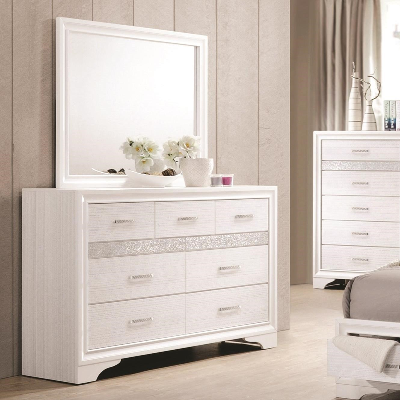 Picture of: Coaster White 7 Drawer Dresser