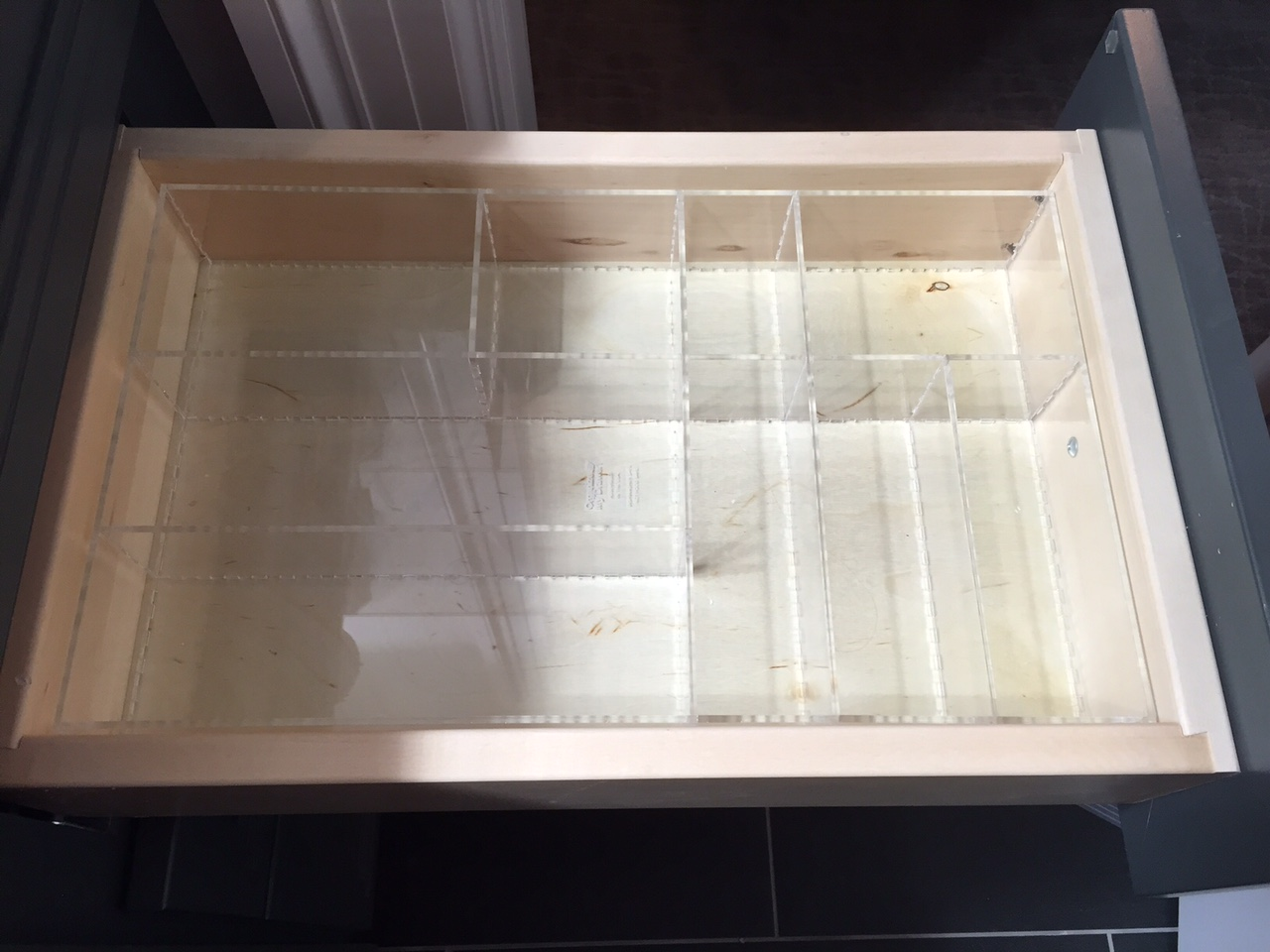 Picture of: Custom Acrylic Drawer Organizer Trays