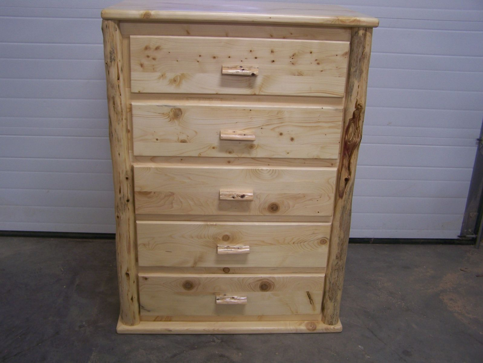Image of: Custom Knotty Pine Chest Of Drawers