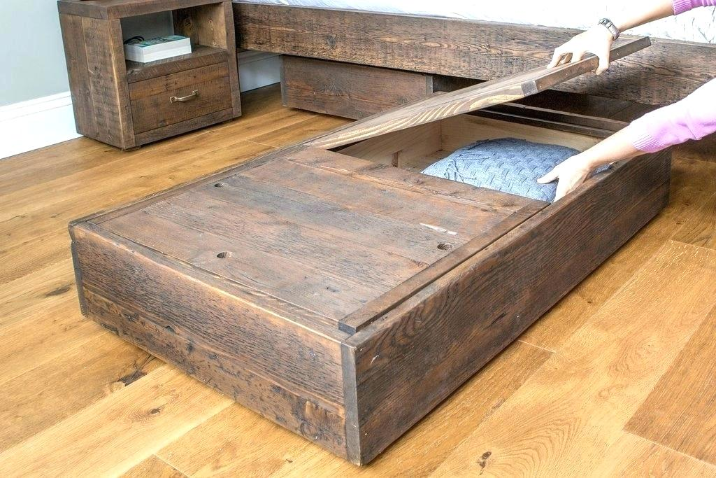 Image of: DIY Under Bed Storage Frame