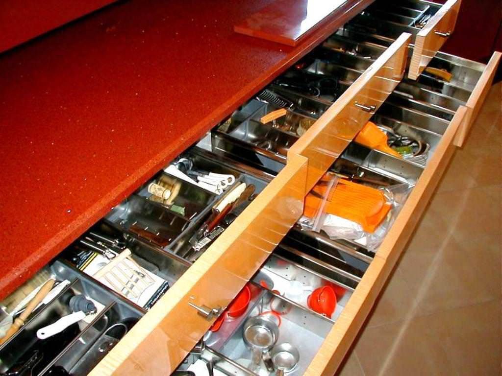 Picture of: Deep Drawer Kitchen Utensil Organizer