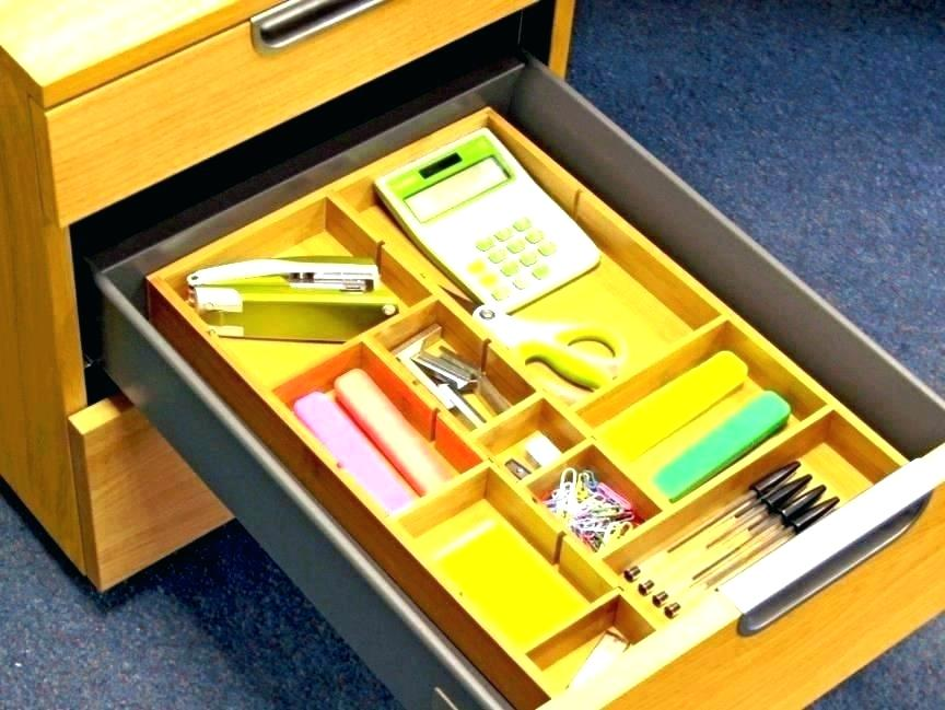 Image of: Desk Drawer Organizer Tray