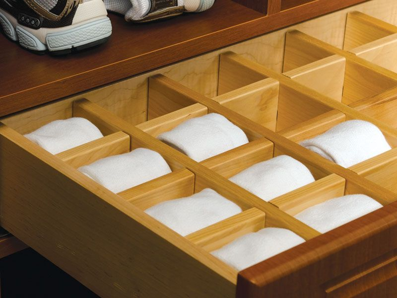 Picture of: Diy Sock Organization Drawer Trays