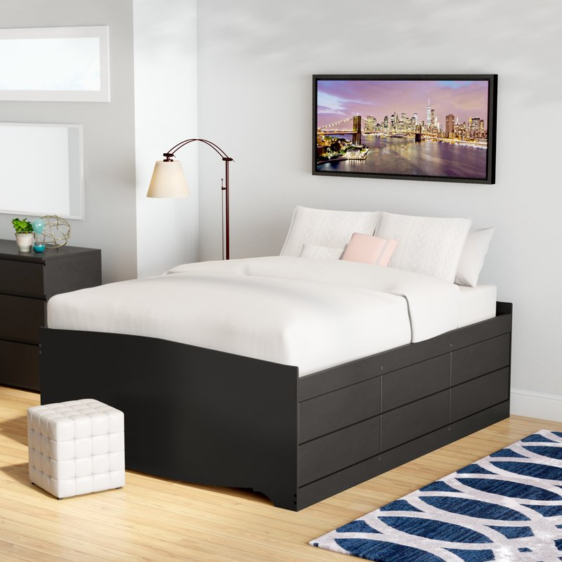 Image of: Drawer Storage Bed Queen