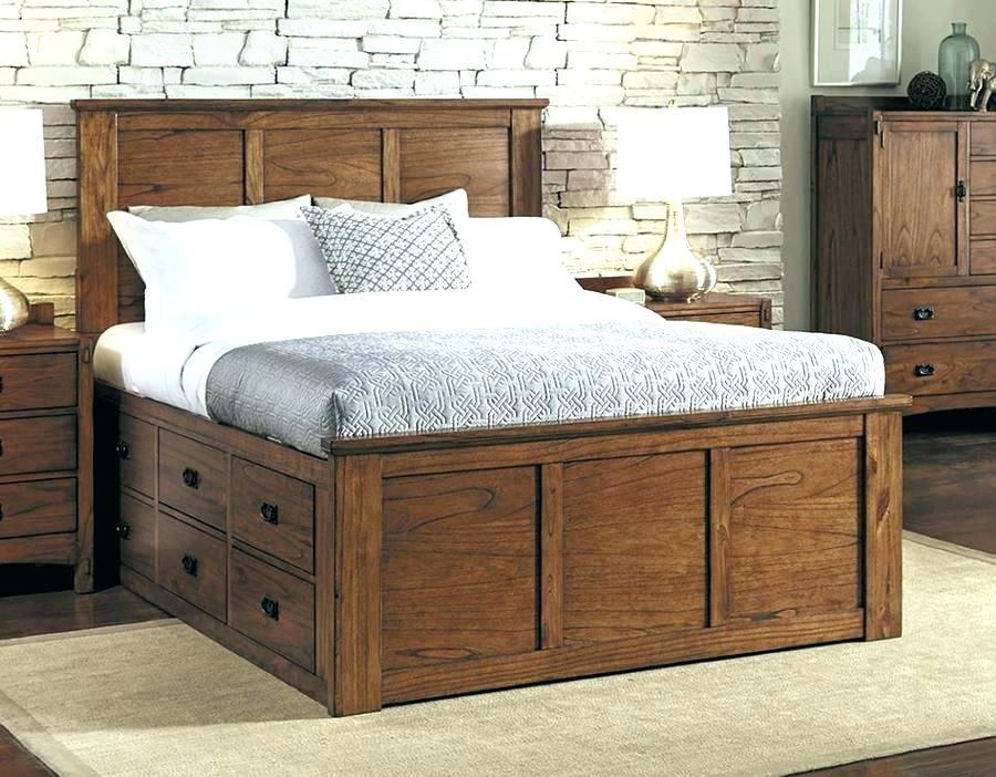 Image of: Drawer Storage Queen Bed