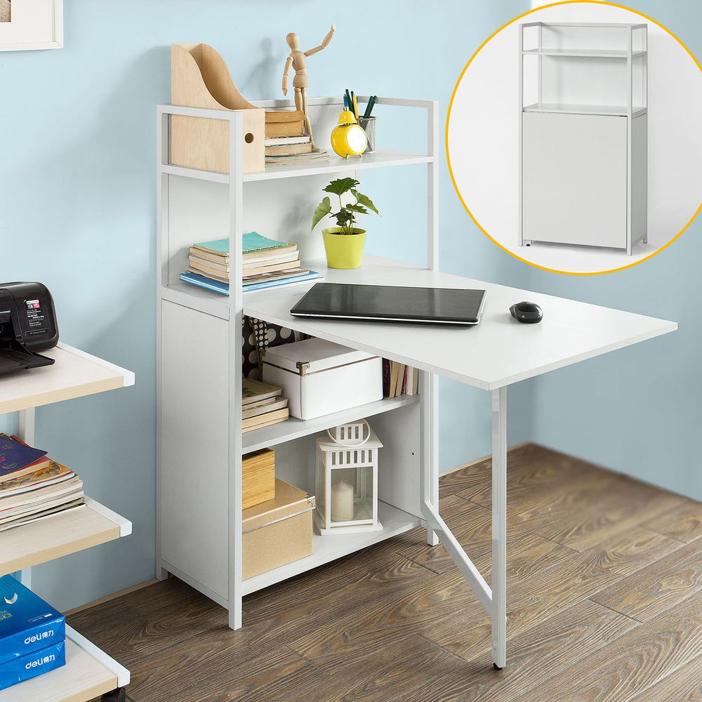 Picture of: Folding Desk With Drawers