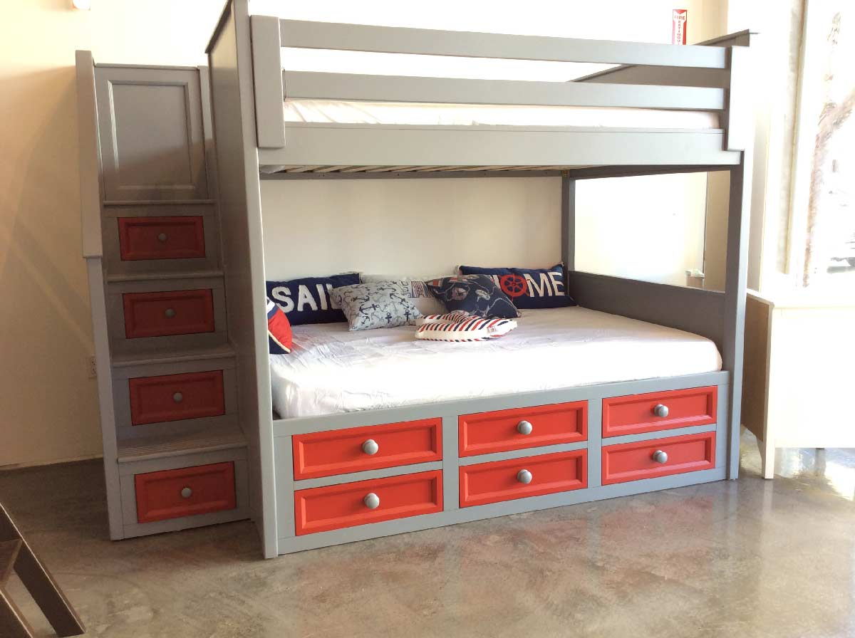 Full Stair Captain Bed Drawers Design
