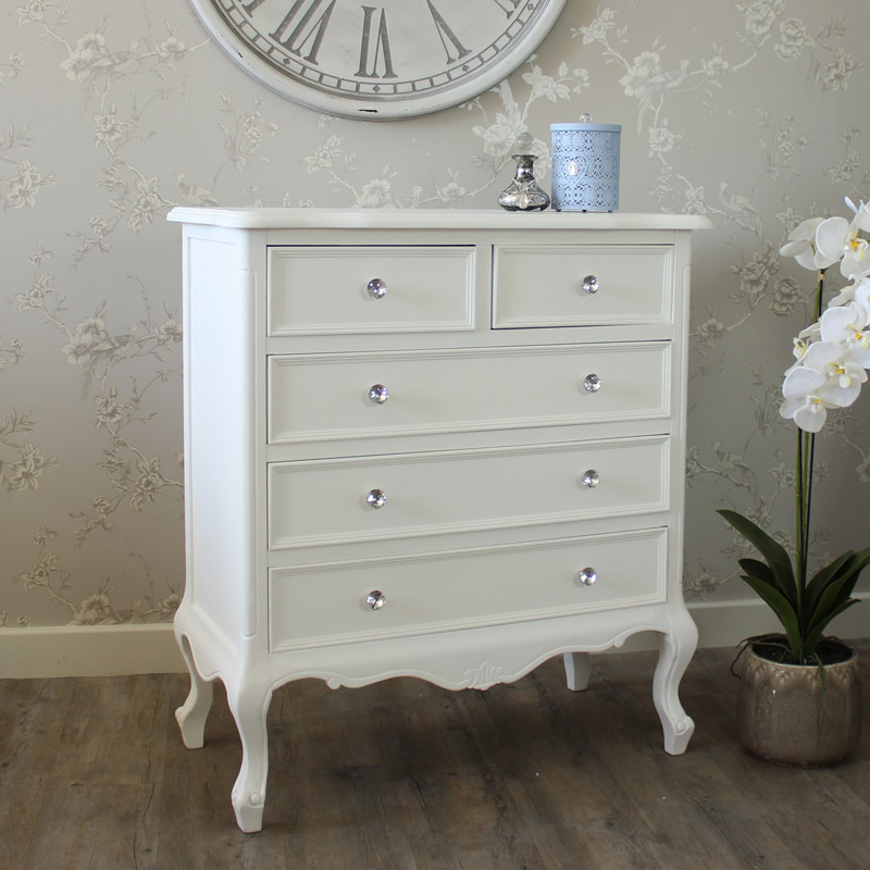 Image of: Good White Drawer Chest