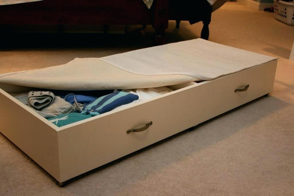 Image of: Great Under Bed Drawer on Wheels
