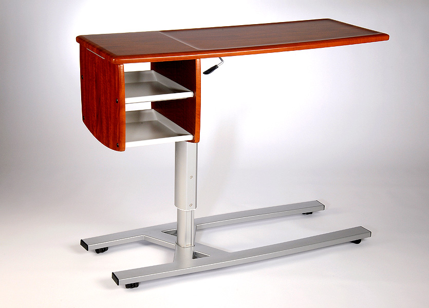Picture of: Hospital Bed Table With Storage