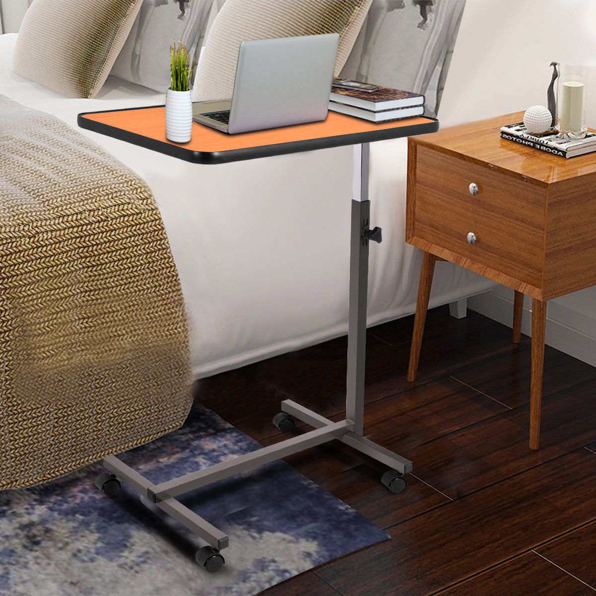 Picture of: Hospital Bed Tray Table with Drawer