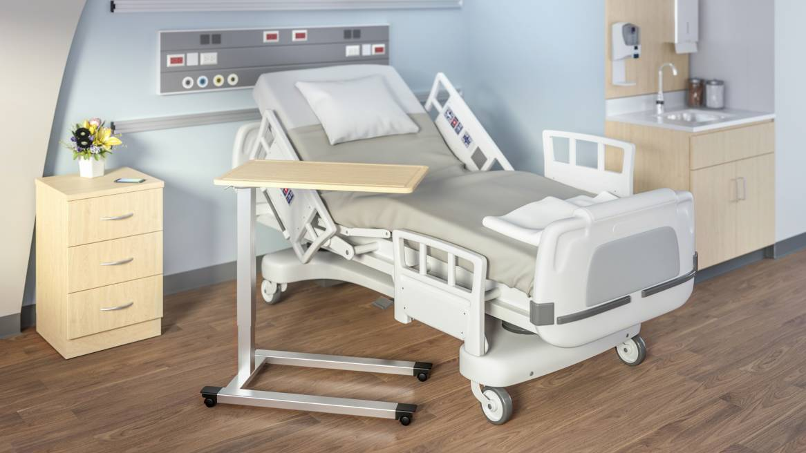 Picture of: Hospital Style Bed Table