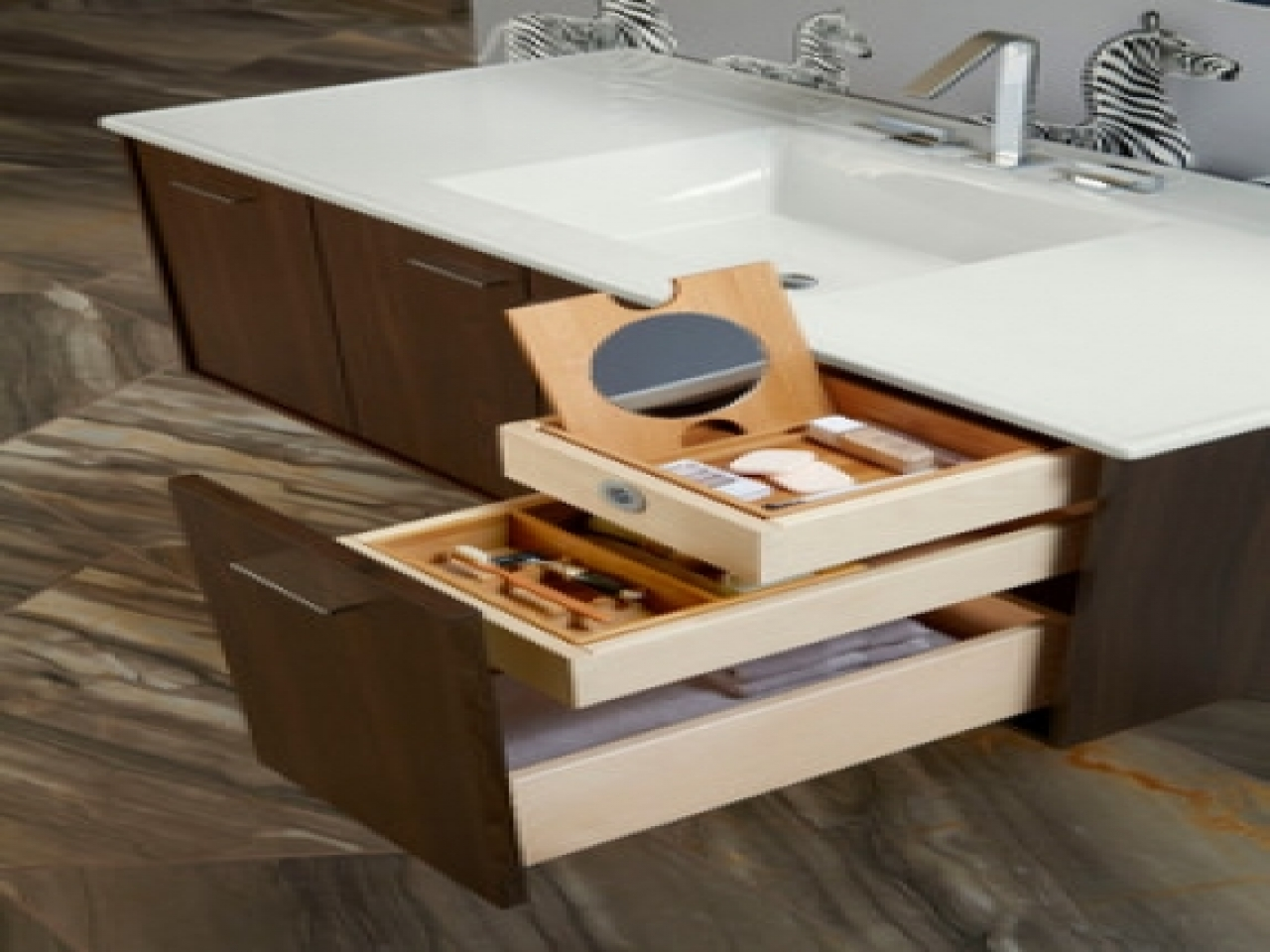 Image of: Image Vanity Drawer Organizer