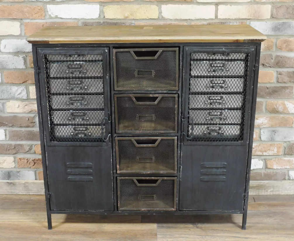 Picture of: Industrial Style Sideboard Metal Drawers