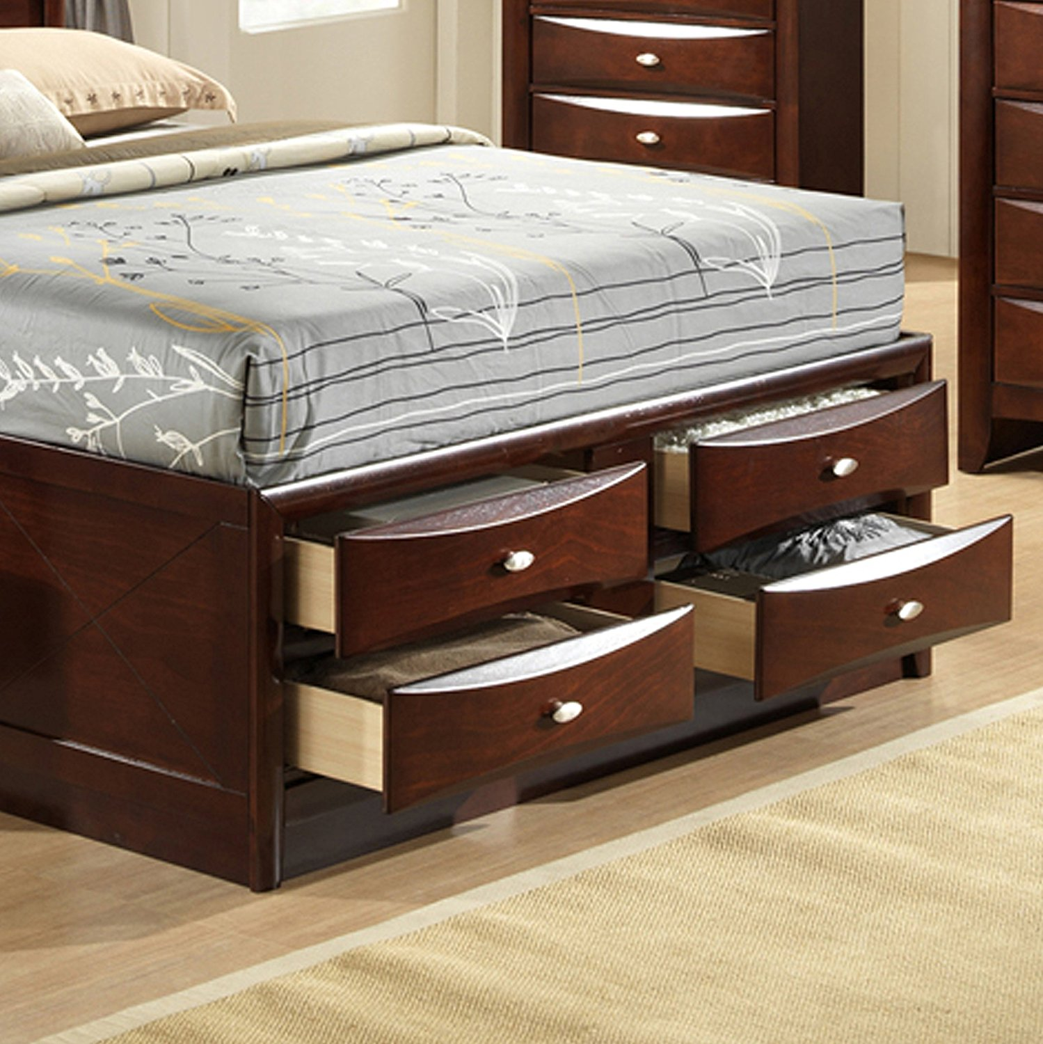 King 6 Drawer Storage Bed