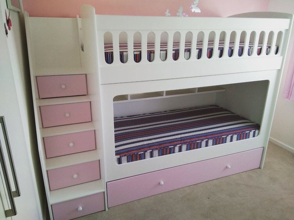 Picture of: Loft Bed With Stairs Plans Drawers Storage