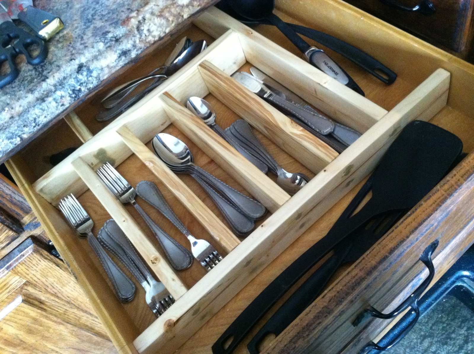 Picture of: Lovely Flatware Drawer Organizer Dining Room