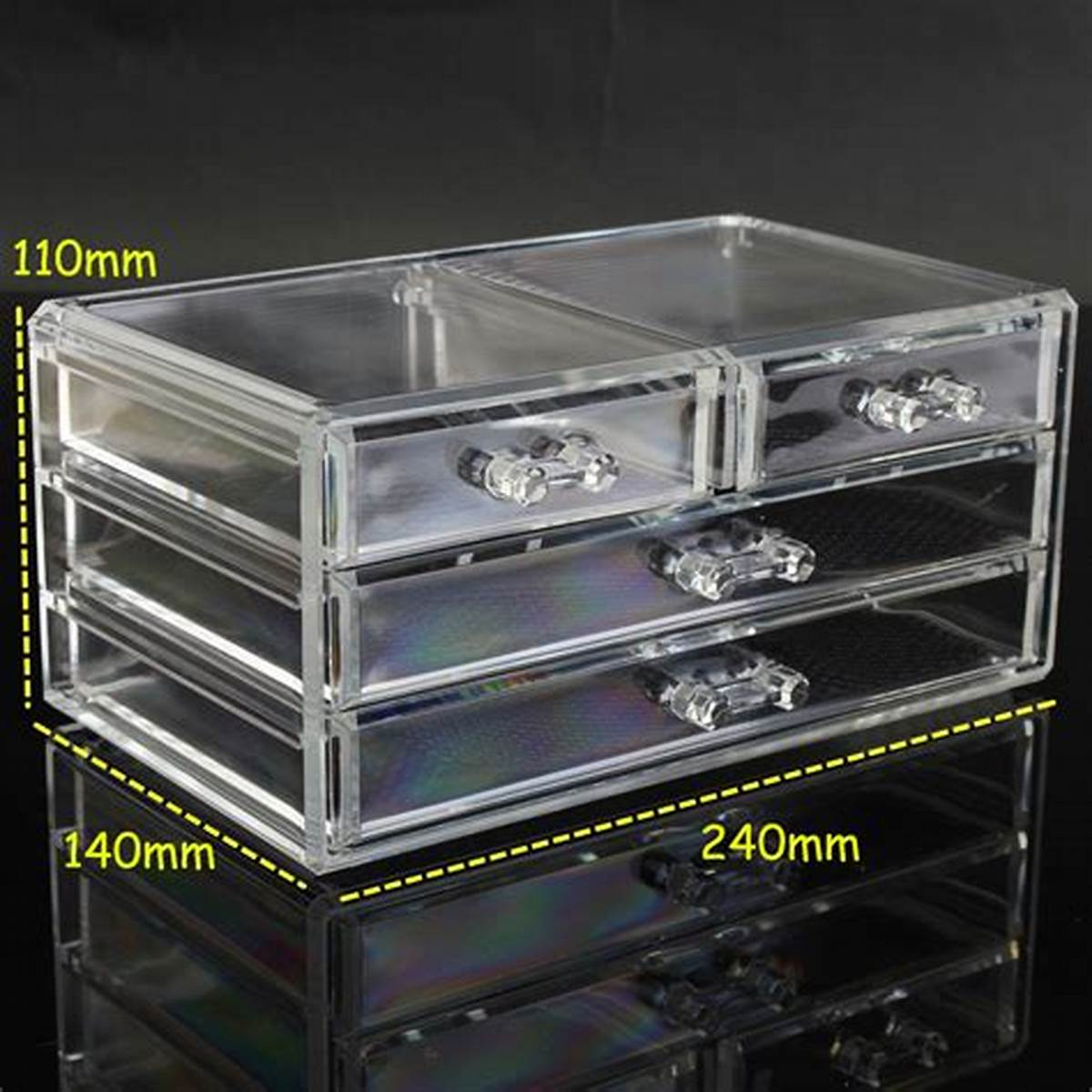 Picture of: Low Clear Drawer Organizer
