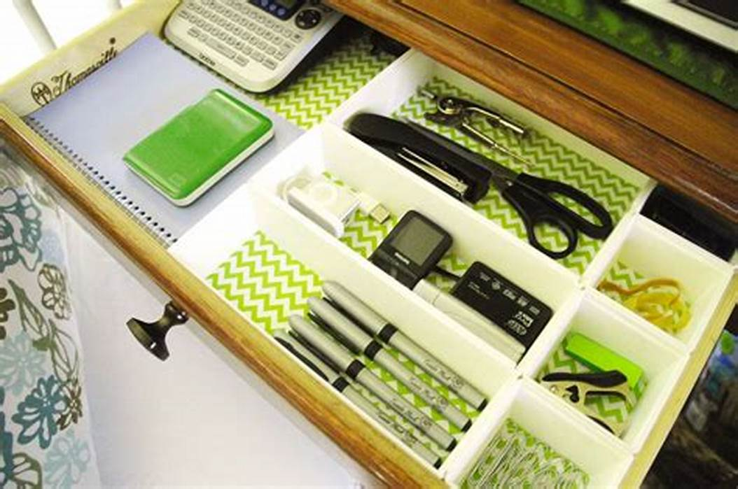 Picture of: Low Desk Drawer Organizer