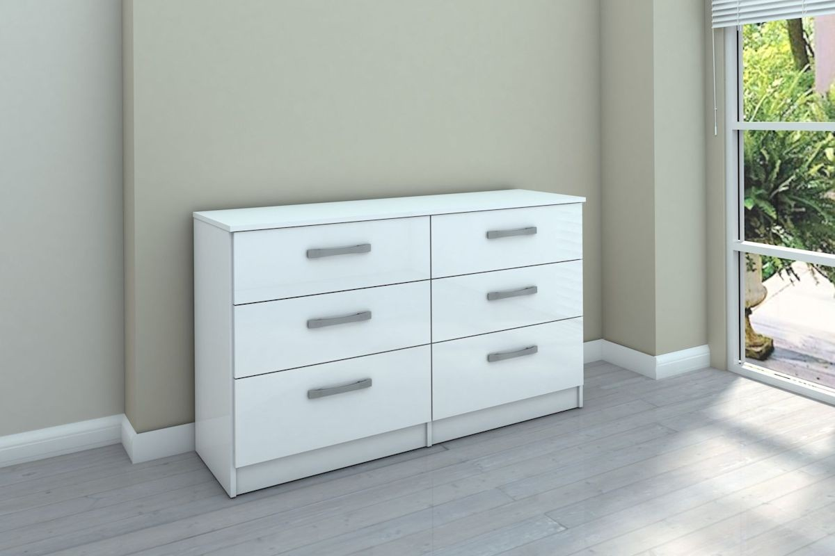 Picture of: Lynx White 6 Drawer Chest Home Interior