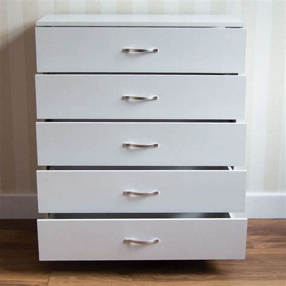 Picture of: Metal 5 Drawer Chest of Drawers