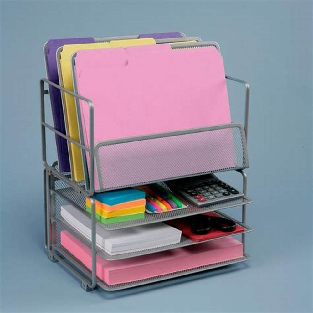 Picture of: Metal Office Desk Drawer Organizer