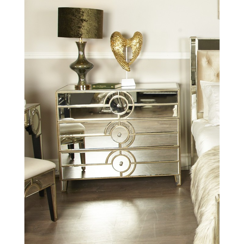 Mirrored Drawer Chest