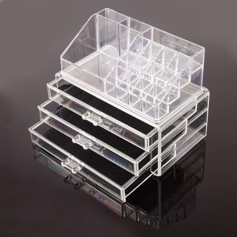 Picture of: Modern Clear Drawer Organizer