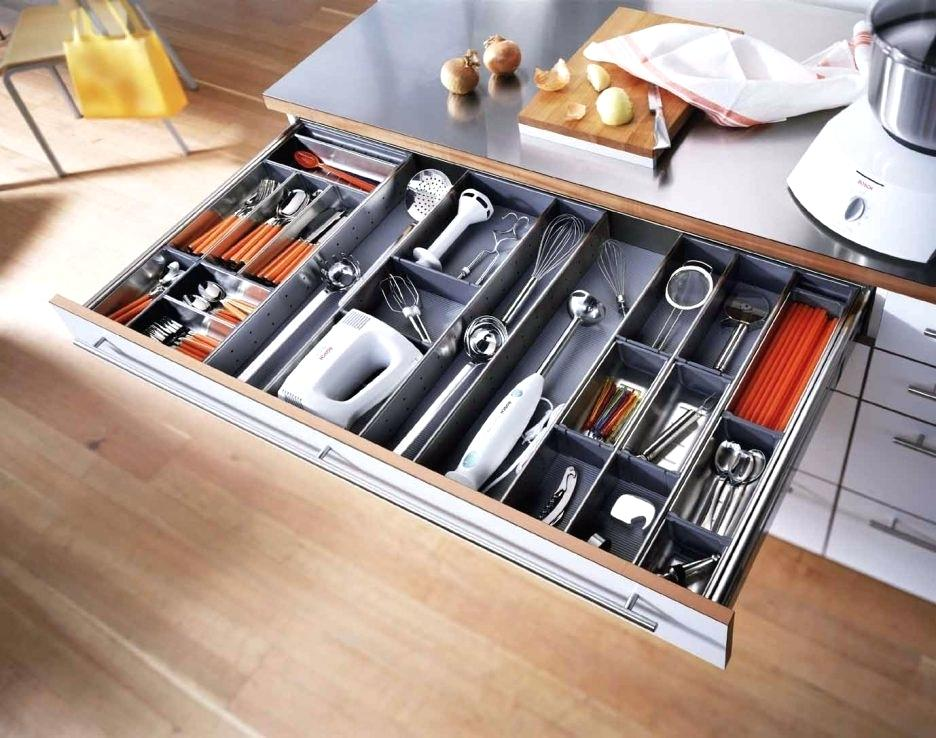 Image of: Modern Utensil Drawer Organizer