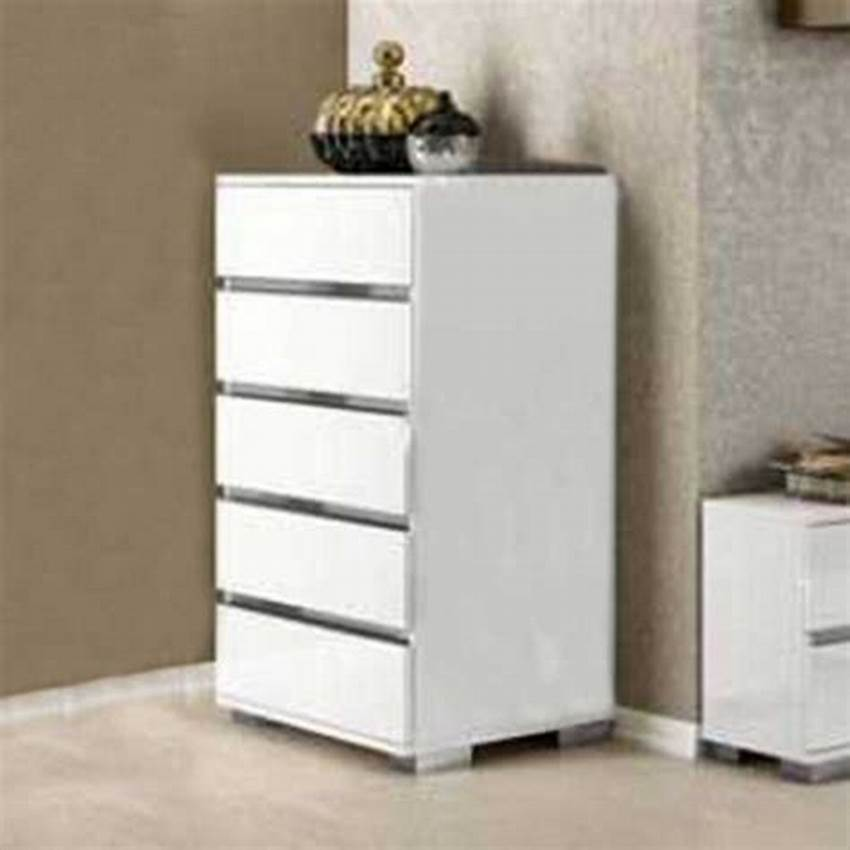 Picture of: Narrow 5 Drawer Chest of Drawers