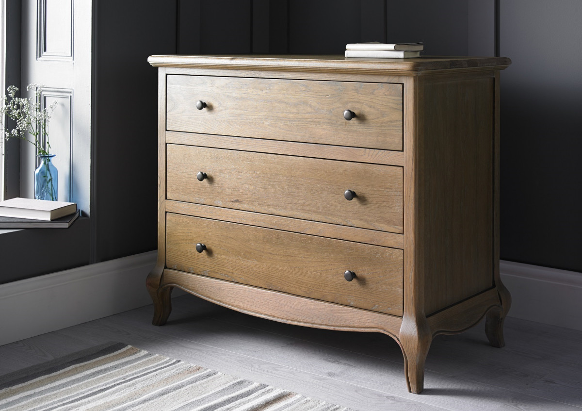 Picture of: Oak 3 Drawer Chest