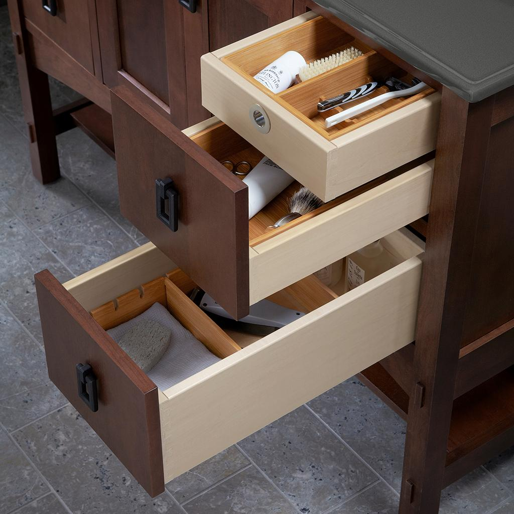 Image of: Ornament Vanity Drawer Organizer