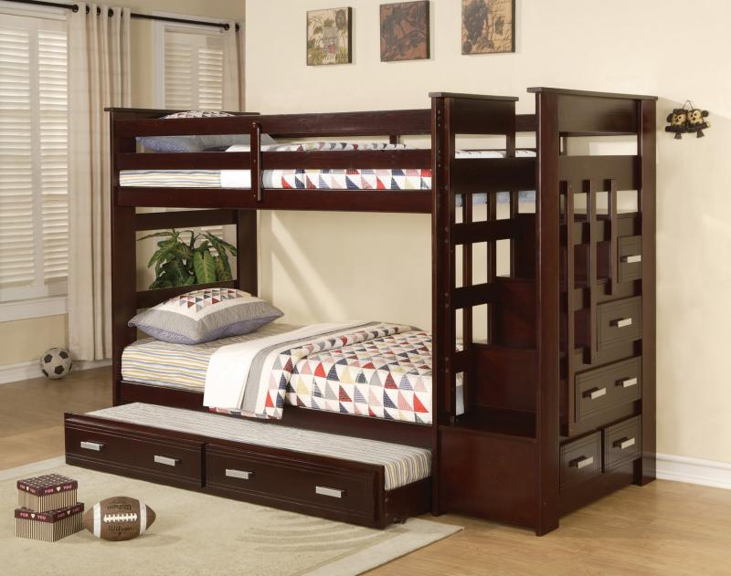 Image of: Queen Bunk Beds with Drawer
