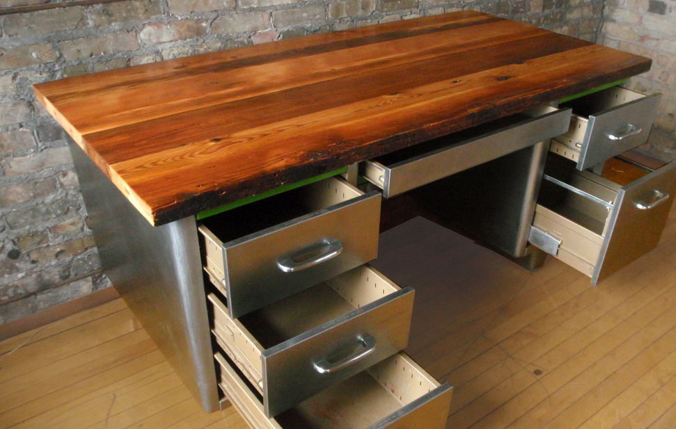 Picture of: Reclaimed Wood Desk Drawer