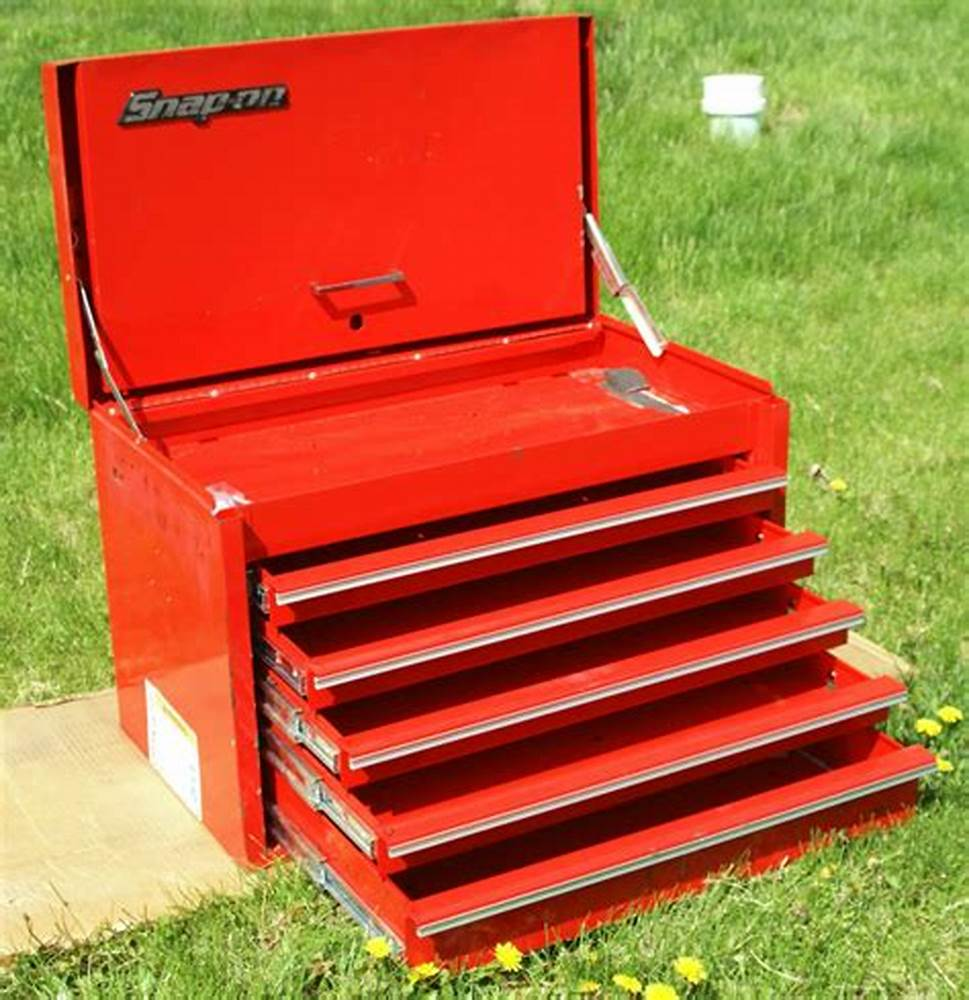 Image of: Red 5 Drawer Tool Chest