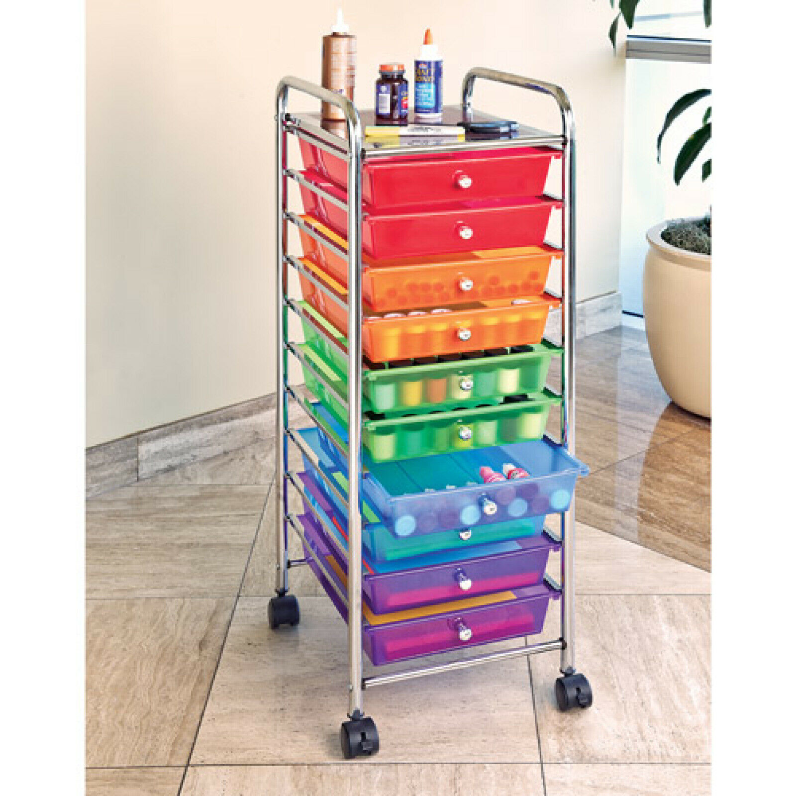Image of: Rolling Drawer Color