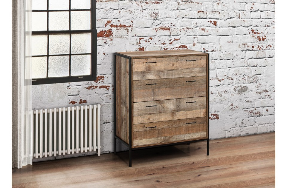 Image of: Rustic 4 Drawer Chest