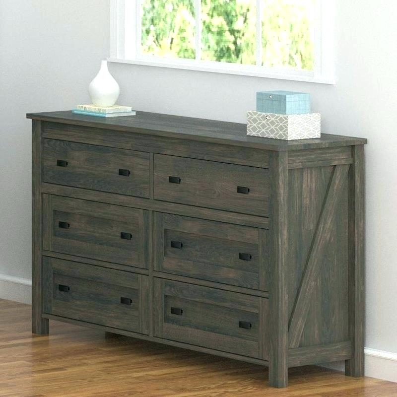 Rustic Malm 6 Drawer Chest