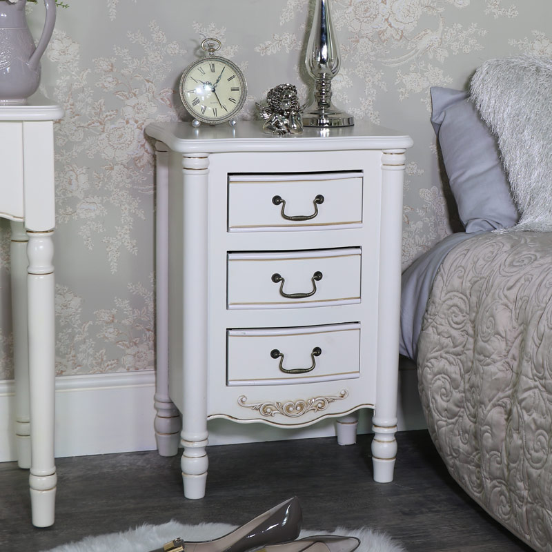 Image of: Shabby Chic Chest Side Table