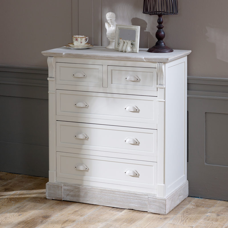 Simple 5 Drawer Chest of Drawers