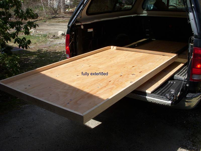 Picture of: Slide out Truck Bed Storage Slider