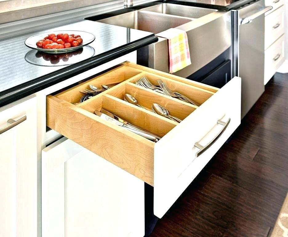 Picture of: Sliding Deep Drawer Organizer