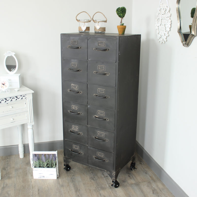 Storage Cabinet with Drawers on Wheel