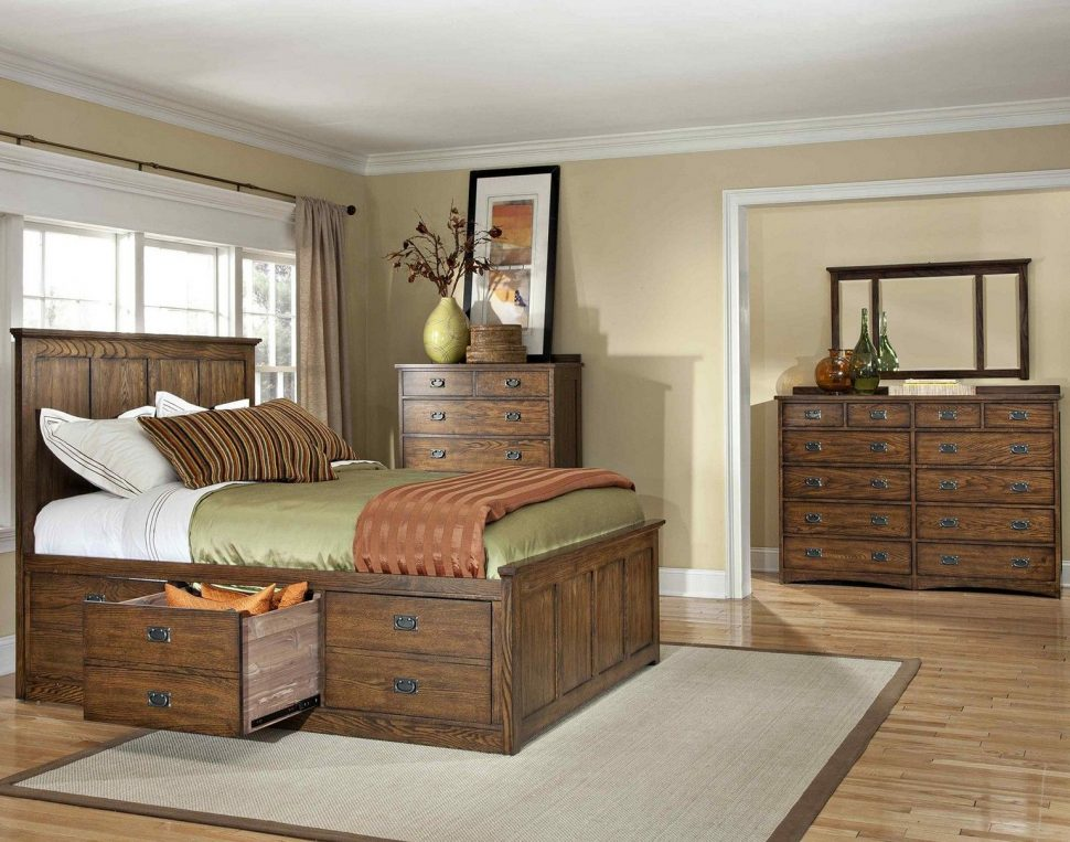 Image of: Storage Drawers Bed Size