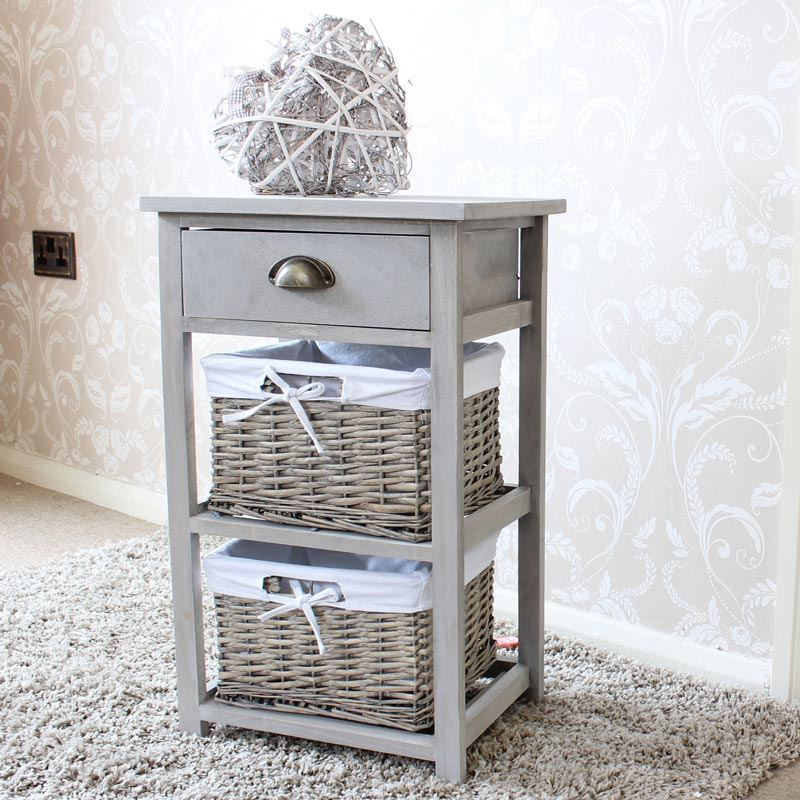 Image of: Storage Drawers Wicker