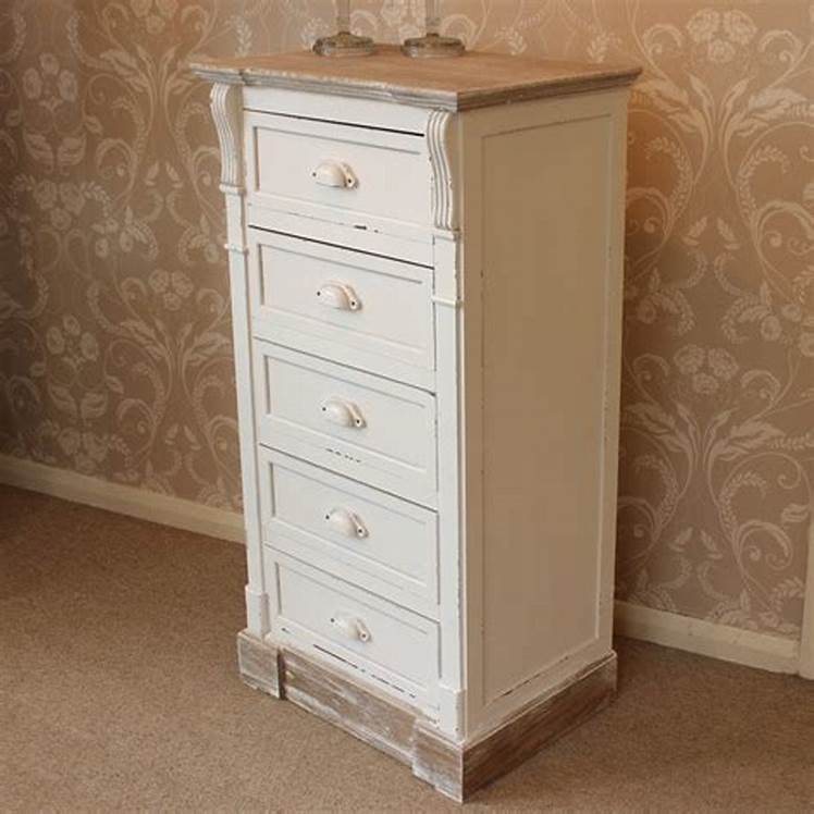 Image of: Tall 5 Drawer Chest of Drawers