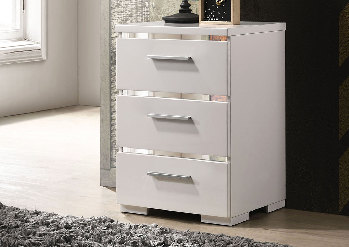 Picture of: Toulouse White 3 Drawer Chest